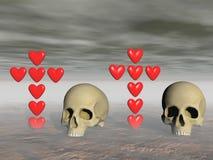 Amor y muerte - representación 3d Imágenes de archivo libres de regalías