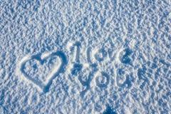 Amor y nieve Imagen de archivo