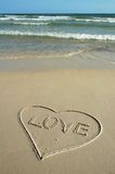Amor y playa Imagen de archivo