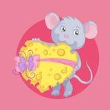 Amor y queso Foto de archivo libre de regalías