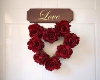 Amor y rosas Foto de archivo