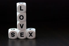 Amor y sexo Imagen de archivo
