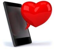 Amor y smartphone libre illustration