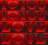Amor You_ del _I de las banderas Imagenes de archivo