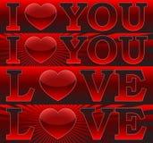 Amor You_ do _I das bandeiras Imagens de Stock