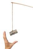Amorce avec l'argent Photographie stock libre de droits