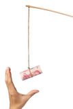 Amorce avec l'argent chinois Image libre de droits