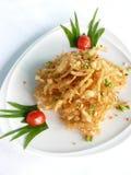 Amorce blanche cuite à la friteuse avec du sel épicé Photos libres de droits
