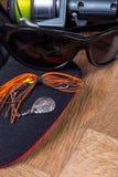 Amorce de fileur de pêche de plan rapproché avec la bobine Images libres de droits