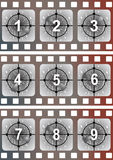 Amorce de film de film Photographie stock libre de droits