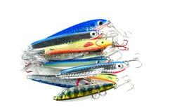 Amorce de pêche à la ligne Images libres de droits