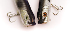 Amorce en plastique pour pêcher - boutons-pression Image libre de droits