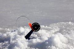 Amorce pour l'hiver de pêche d'hiver Photographie stock libre de droits