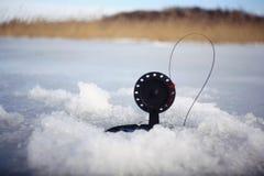 Amorce pour l'hiver de pêche d'hiver Photographie stock
