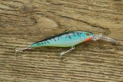 Amorce rayée de wobbler pour la pêche Image stock