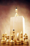 amorce Roi d'échecs sur le dessus Photos stock