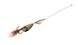 Amorces de pêche à la ligne artificielles Images libres de droits