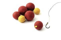 amorces et équipement de pêche Photo stock