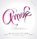 amore διάνυσμα εγγραφής χεριών Στοκ Εικόνες