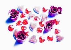 Amore 02 di giorno del biglietto di S. Valentino Fotografie Stock Libere da Diritti