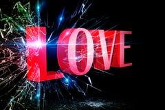 Amore 3D Fotografia Stock