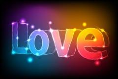 Amore al neon Fotografia Stock Libera da Diritti