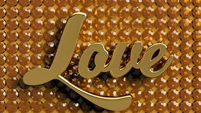 AMORE in Amber Gold royalty illustrazione gratis