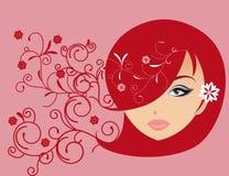 Amore astratto dell'illustrazione delle donne Immagini Stock