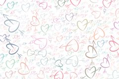 Amore astratto per il fondo di giorno di S. Valentino, di celebrazioni o delle illustrazioni di anniversario Mazzo, arte, congrat illustrazione vettoriale