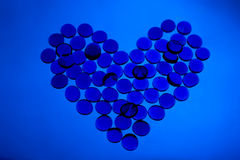 Amore blu illustrazione di stock