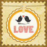 Amore Card13 Immagine Stock