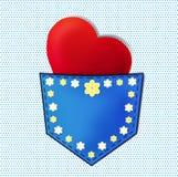 Amore in casella Immagine Stock