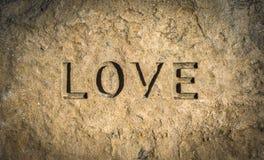 Amore cesellato in roccia fotografie stock libere da diritti