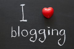 Amore che blogging Fotografia Stock Libera da Diritti