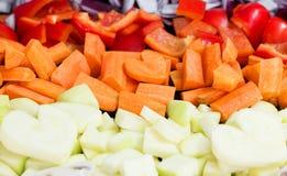Amore che cucina alimento sano Fotografie Stock
