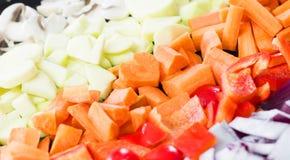 Amore che cucina healthyly Fotografia Stock