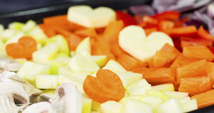 Amore che cucina healthyly Immagini Stock