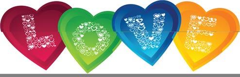 Amore con figura del cuore illustrazione vettoriale