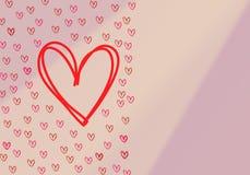 Amore con i cuori su un fondo bianco fondo senza cuciture con differenti cuori colorati dei coriandoli per tempo del biglietto di royalty illustrazione gratis