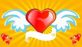 Amore con le ali Fotografie Stock