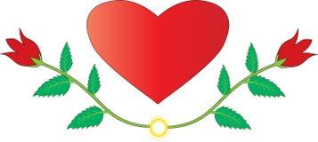 Amore con le rose Fotografie Stock Libere da Diritti