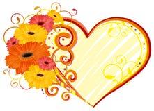 Amore, cuore della gerbera Fotografia Stock