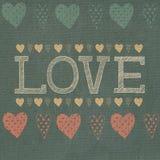 Amore, cuori Immagine Stock