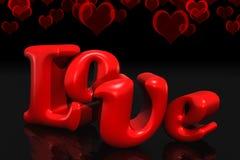 amore 3D Immagini Stock