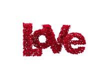 Amore dalle rose (isolate nel bianco) Immagini Stock