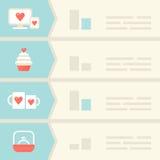 Amore, datazione, elementi di Infographic di relazioni Fotografia Stock