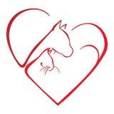 Amore degli animali Immagini Stock