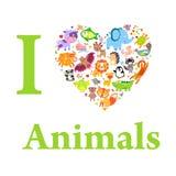 Amore degli animali Fotografie Stock Libere da Diritti