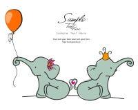Amore degli elefanti Fotografia Stock