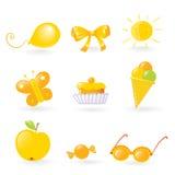 Amore dei bambini esso colore giallo Fotografia Stock